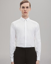 Sandro Solid Button Down Shirt Slim Fit White