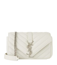 Saint Laurent Baby Quilted Monogramme Shoulder Bag Female Ivory