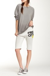 Free City Cutoff Sweatshort White