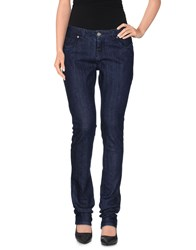Cotton Belt Denim Denim Trousers Women Blue