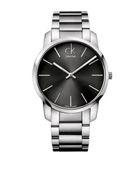 Calvin Klein Mens Swiss City Stainless Steel Bracelet Watch Silver