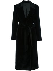Tagliatore Belted Mid Length Coat Black