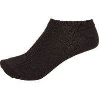 River Island Womens Black Cable Knit Trainer Socks