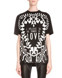 Givenchy Power Of Love Short Sleeve Graphic Tee Black