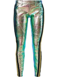 Faith Connexion Iridescent Skinny Trousers Green