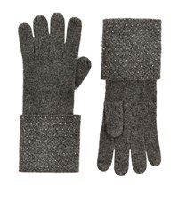 William Sharp Crystal Cuff Cashmere Gloves Female