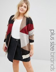 Junarose Patched Knitted Cardigan Multi