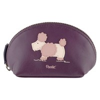 Radley Dog Show Small Zip Coin Purse Purple