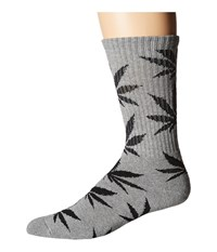 Huf Plantlife Crew Sock Grey Heather 1 Crew Cut Socks Shoes Gray