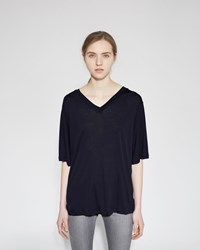 Acne Studios Behati Tencel Tee Dark Navy