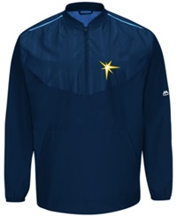 Majestic Men's Tampa Bay Rays Training Jacket Navy