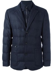 Corneliani Zip Up Padded Jacket Blue