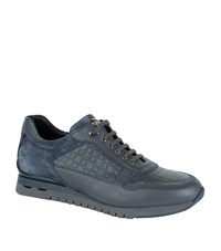 Stefano Ricci Leather Hexagonal Sneakers Male Dark Grey