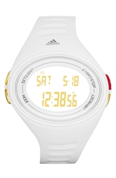 Adidas 'Adizero Basic Xl' Digital Watch 49Mm White Gold