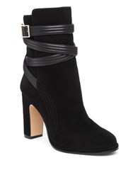 Louise Et Cie Ynez Quilted Buckle Leather And Suede Booties Black