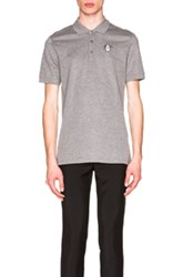 Givenchy Cuban Fit Rottweiler Embroidery Polo In Gray