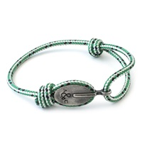 Anchor And Crew Green Dash London Rope Bracelet