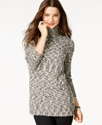 American Living Marled Turtleneck Sweater Only At Macy's Black Multi