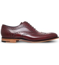 Barker Jenson Wingcap Leather Derby Shoes Wine