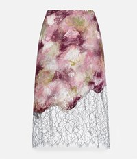 Christopher Kane Felted Lace Skirt Pink And Purple