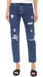 Earnest Sewn Victoria Cropped Jeans Mid Blue