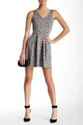 Soprano Cutout Skater Dress Gray