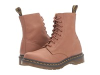 Dr. Martens Pascal 8 Eye Boot Tan Virginia Women's Lace Up Boots Brown