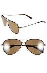 Women's Bobbi Brown 'The Dakota' 59Mm Aviator Sunglasses Black