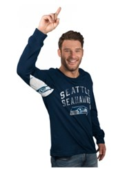 G3 Sports Hands High Men's Long Sleeve Seattle Seahawks Play Action T Shirt Navy