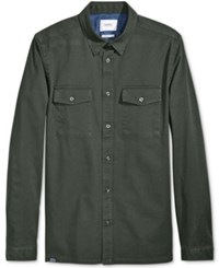 Wesc Men's Olaf Dual Pocket Shirt Forest Green