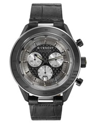 Givenchy Eleven Stainless Steel Chronograph Watch Black Gunmetal