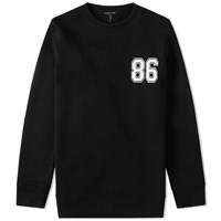 Helmut Lang Oversized Varsity Crew Sweat Black