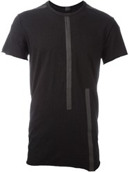 Isaac Sellam Experience Textured Stripe T Shirt Black