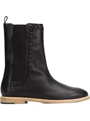 Maiyet 'Hazel Whipstitch' Ankle Boots Black