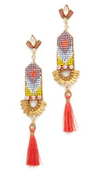 Deepa Gurnani By Harmony Earrings Coral