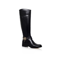 Michael Kors Fulton Harness Boots Flat Knee High Boot Black