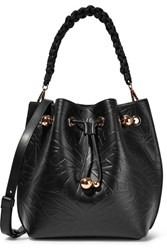 Sophia Webster Romy Butterfly Embossed Leather Shoulder Bag Black