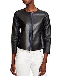 Armani Collezioni Leather Jacket Multi