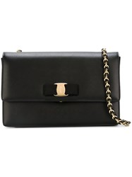 Salvatore Ferragamo 'Vara' Shoulder Bag Black
