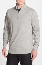 Men's Peter Millar Interlock Quarter Zip Sweatshirt Light Grey