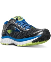 Brooks Men's Ghost 9 Running Sneakers From Finish Line Anthracite Electric Brook