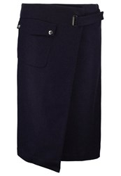 Filippa K Wrap Skirt Navy Dark Blue
