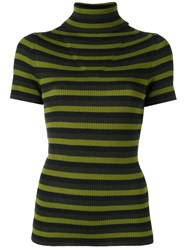 P.A.R.O.S.H. Striped Knit T Shirt Green