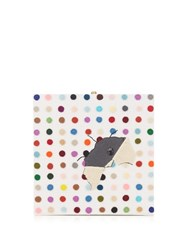 Olympia Le Tan Spot Painting Square Box Clutch White Multi
