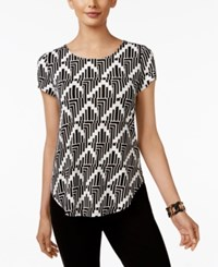 Alfani Printed T Shirt Only At Macy's Stacked Angles
