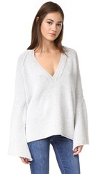 Free People Lovely Lines Sweater Ivory