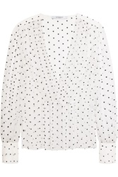Givenchy Cross Print Blouse In Silk Gauze