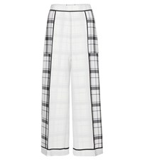 Acne Studios Odette Wide Leg Crepe Trousers White