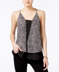 Bar Iii Printed Layered Top Only At Macy's Black Combo