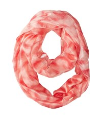 Calvin Klein Liquid Lurex Waves Infinity Latte 2 Scarves Red